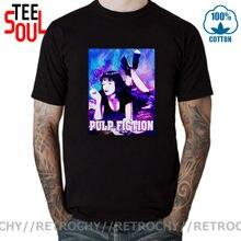 Mais novo verão moda galaxy pulp fiction poster 1994 quentin tarantino t camisa masculina o-pescoço manga curta camiseta camisetas topos XS-5XL
