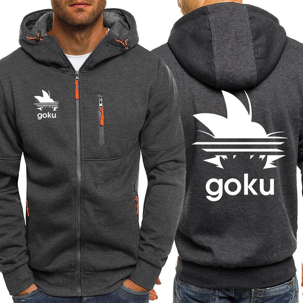 Japan Anime Dragon Ball Z Hoodies Men 2019 New Autumn Winter Sweatshirts Mans Hoody Fahison Sportswear Streetwear Jacket Hoody