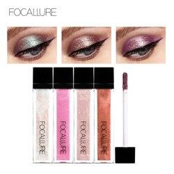 FOCALLURE 14 Colors Liquid Pigment Eyeshadow Ocean Light Waterproof Glitter Shimmer Highlighter Brighten Makeup Liquid Eyeshadow