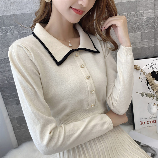 9308 actual photo of new knitted square collar woolen dress female slim 75 -- 1 / F, 7 rows, 2 shelves 6