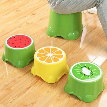 Household Small Size Fruit Pattern Stools Child Lovely Bath Non-slip Stool Home Office Kindergarten