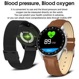 Image 2 - L7 L8 Bluetooth Smart Watch For Men Ecg+Ppg Hrv Heart Rate Blood Pressure Monitor Ip68 Waterproof Smartwatch Android Ios