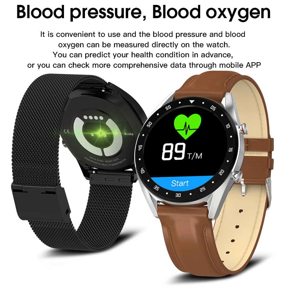 L7 L8 Bluetooth Smart Watch Men Ecg+ppg Hrv Heart Rate Blood Pressure Monitor Ip68 Waterproof Smart Bracelet Android Ios