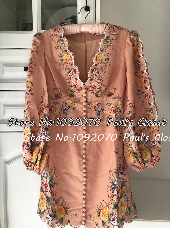 Mini robe en lin pour femme LILYPAUL1833