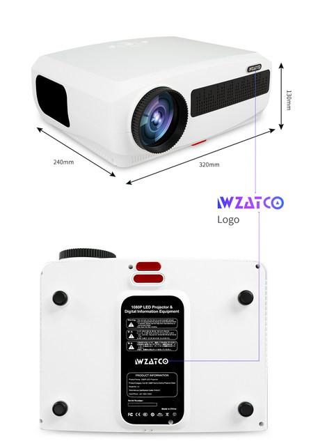 WZATCO C3 4K Full HD 1080P LED Projector Android 10 Wifi Smart Home Theater projector 23