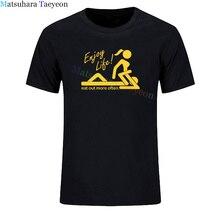 Shirt Custom Top-Clothing Short-Sleeve Enjoy Life Summer No Often Normal Eat-Out Sex