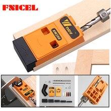 Holzbearbeitung Geneigt Loch Locator Puncher Locator Tasche Loch Jig Kit System w/Schritt Bohrer & Zubehör DIY Werkzeug