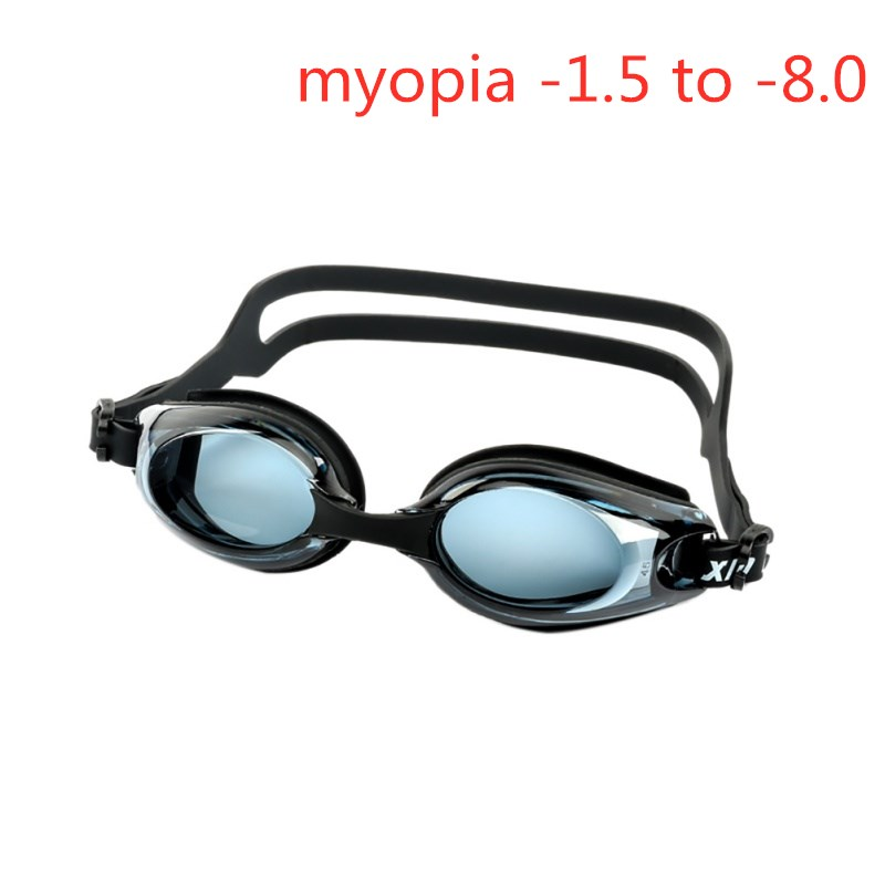 Hot Summer Black Anti-fog Coated Water Diopter Swimming Eyewear Glasses Mask Adult Prescription Optical Myopia Swimming Goggles