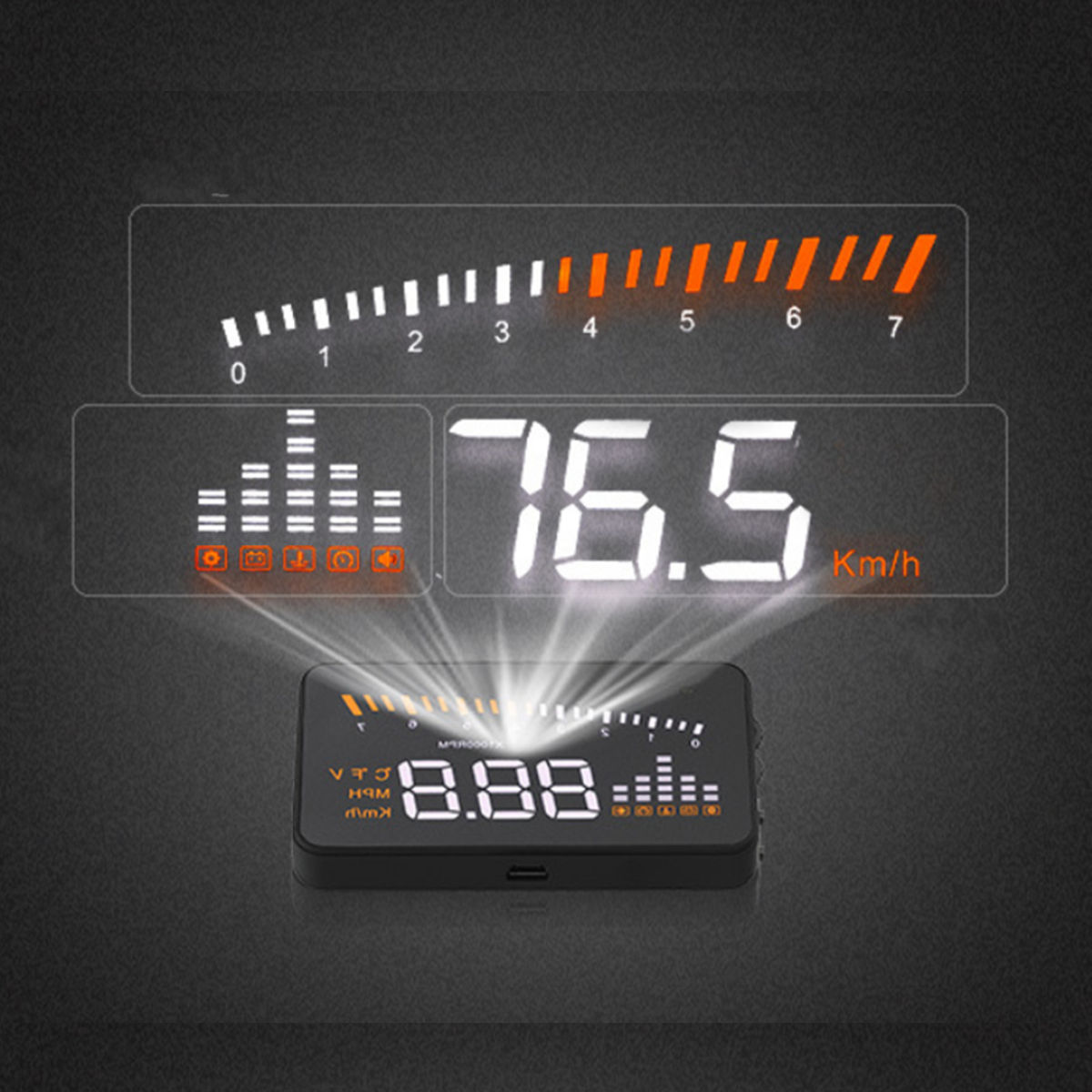 HUD Head-up Display X5 Automotive OBD Projection Display with Projectio For Buick Dodge Ford Cadillac Chrysler