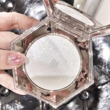 Diamond Shape Highlighter Pressed Powder Waterproof Brighten Skin Color Long Lasting Shiny Luminous Makeup