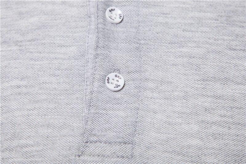 AIOPESON New Man Polo Shirt Mens Casual Deer Embroidery Cotton Polo shirt Men Short Sleeve High Quantity polo men 4