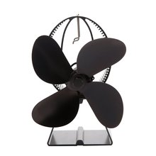 Fireplace Heat-powered Four-page Fan Wood Faster Speed Greater Wind Volume Comfort