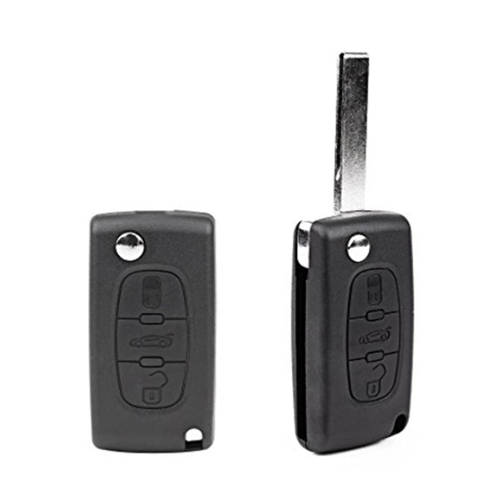3 Buttons Remote Key Shell for Peugeot with Battery Holder /& Lights key Sale