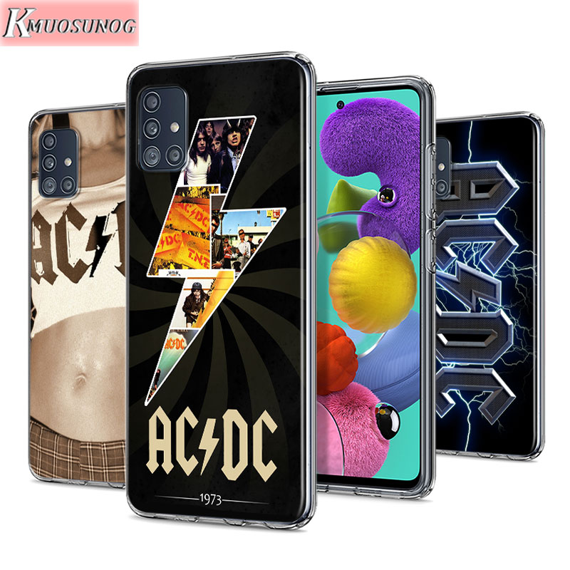 AC DC Poster Music For Samsung Galaxy Note 10 Lite S20ultra S20 Plus A01 A11 A21 A51 A71 A81 A91 TPU Phone Case