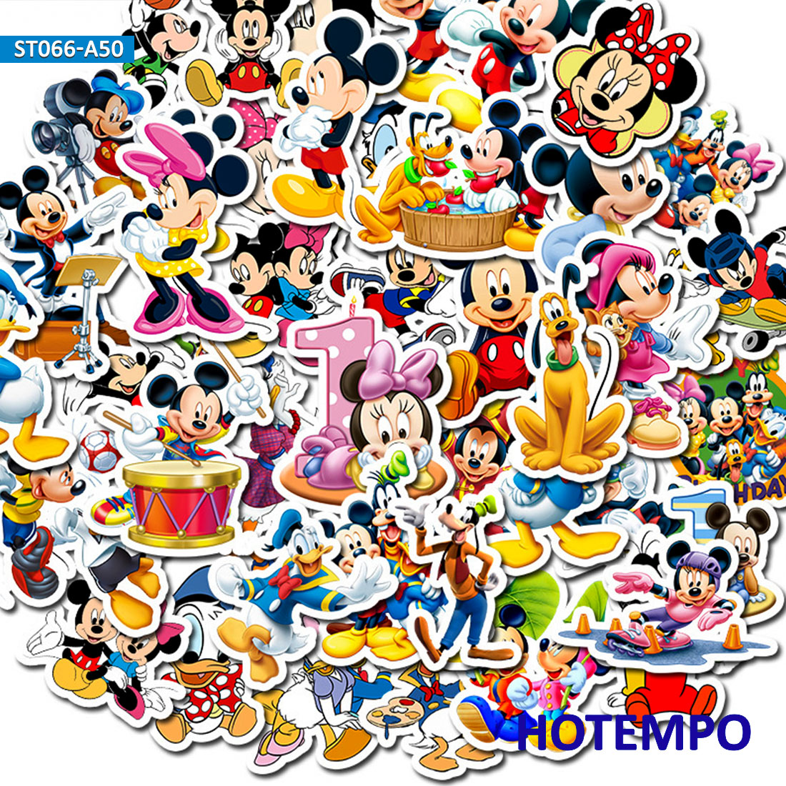 50pcs Minnie Mickey Stickers For Children Kids Teacher School Gift DIY Letter Diary Scrapbooking Stationery Pegatinas Decal