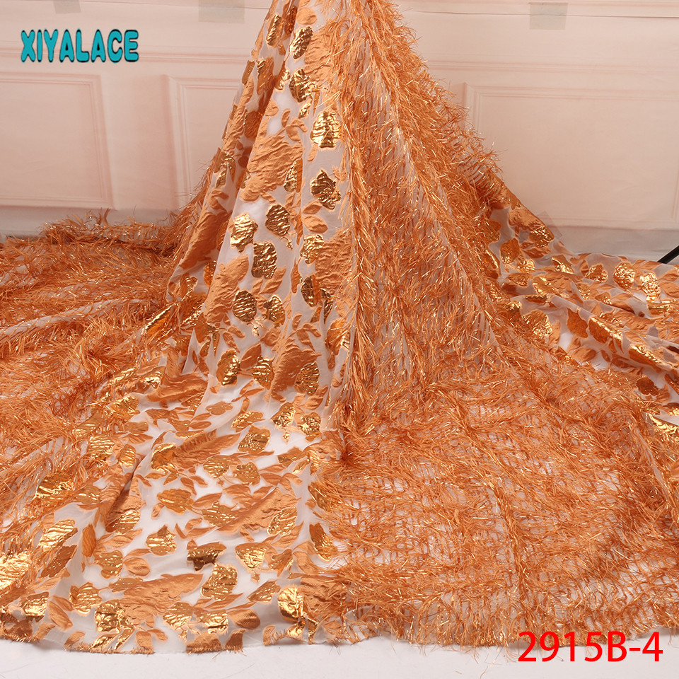 African Lace Fabric Latest High Quality 2019 Lace Embroidery French Lace Fabric Bridal Lace For Nigerian Party Dress YA2915B-4