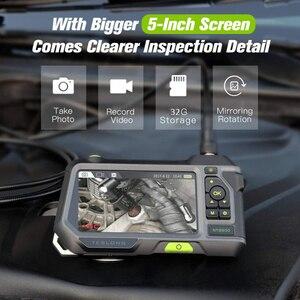 Image 4 - Lente de cámara Dual NTS500 de 5,5mm y 8mm pantalla 1080P HD 5,0, tubo LCD, cámara de inspección para automóviles, endoscopio, IP67, videoscope, kamera subacuática