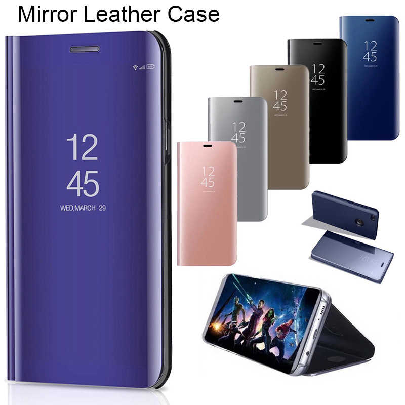 360 Full Cover Flip Cover Case For Huawei Honor 8 9 10 20 Lite Luxury Mirror Plating Protective Shell On Honor 10i 20i View10 20