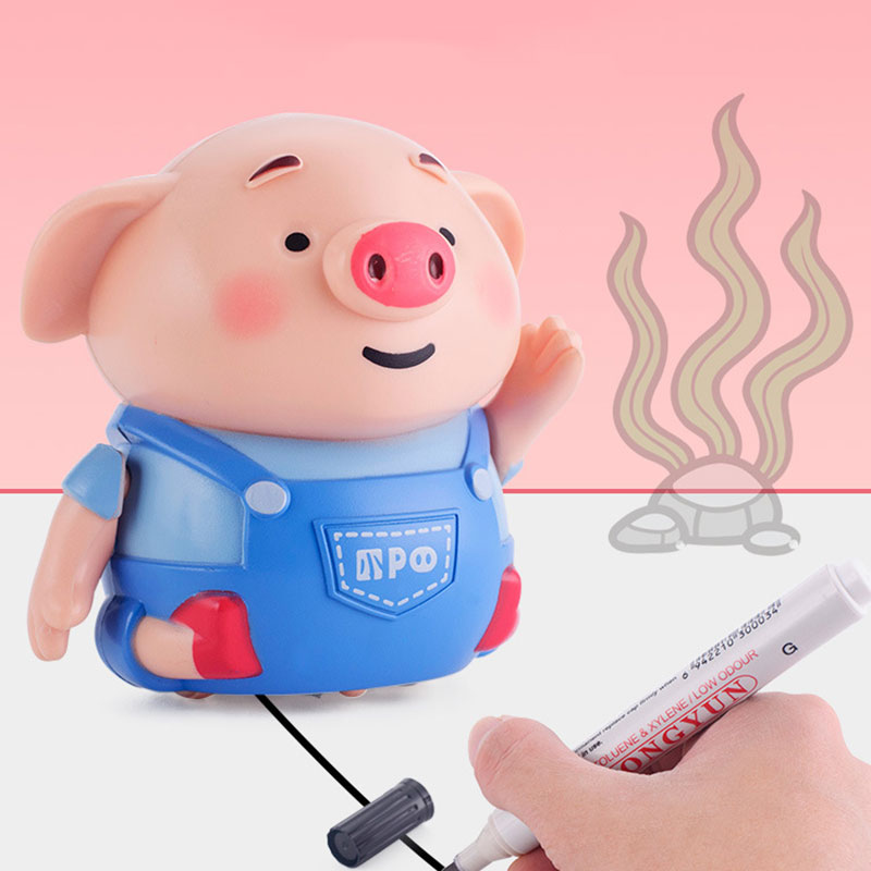 Mini Cute Electric Pig Robot Inductive Pen Light Music Educational Dolls With Kids Funny Novel Toys For Children Girl Gift