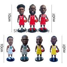 10cm jogador do esporte figuras de basquete estrelas figura brinquedos collectible estrela figuras de ação modelo carro decorações brinquedo para presente boneca