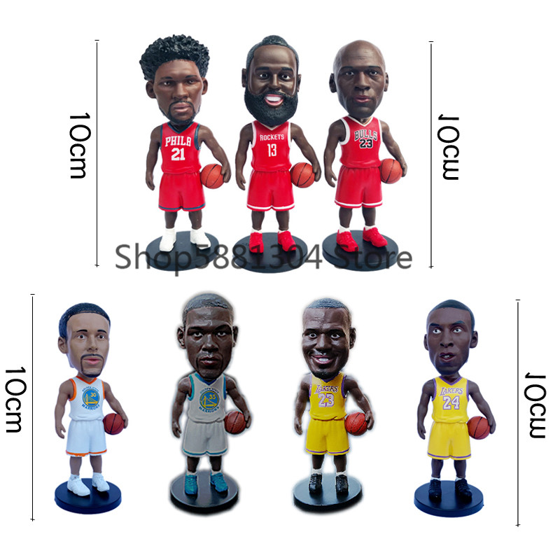 10cm Sport Player figures Basketball Stars Figure Toys Collectible Star Figures Action Model car decorations toy for Gift Doll