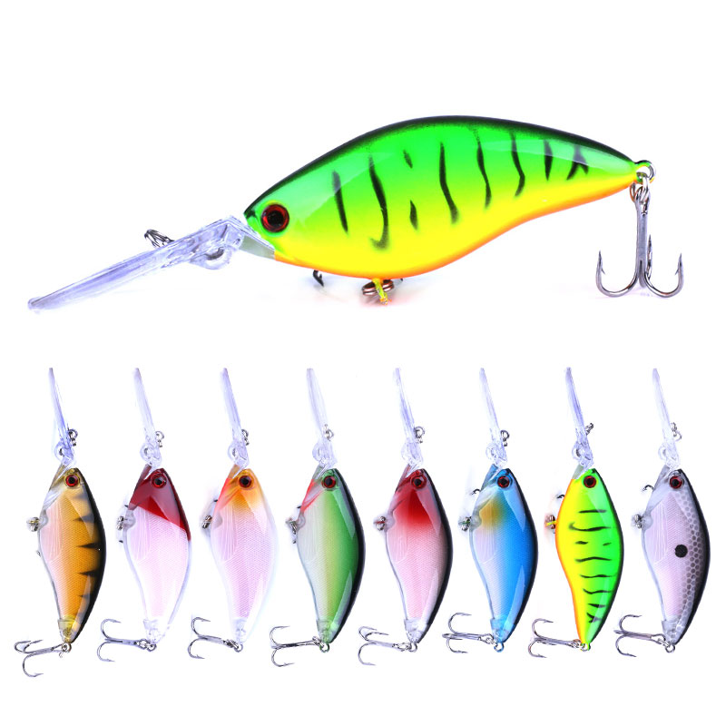 1pcs Floating Deep Diving Crankbait Fishing Lures 17.8g/105mm Lifelike Wobblers With 6# Owner Hooks  isca artificia