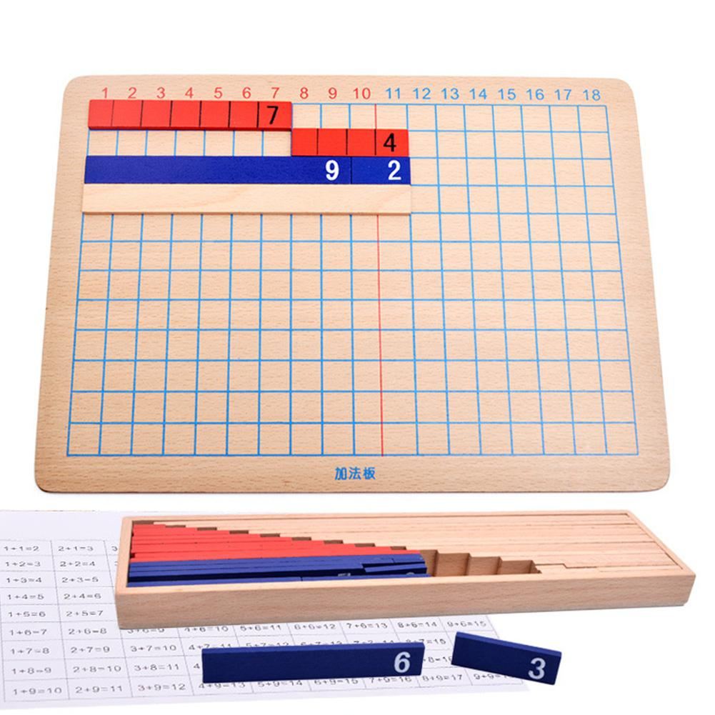 Hobbylane Math Educational Wooden Toy Multiplication And Division Bead Board For Early Childhood Training