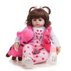 48cm Reborn bébé poupées mignon doux à la main réaliste nouveau-né Silicone vinyle bébé poupées jouets pour fille garçons enfants anniversaire cadeau de noël