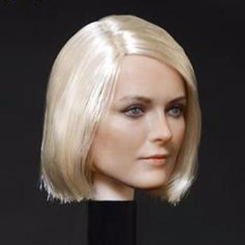 цена на 1/6 scale female beautiful head carving model girl lady head sculpt for 12