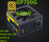 New PC PSU For Segotep GTX980Ti 2080 Broad Silence 80PLUS Gold Medal 600W Power Supply GP700G