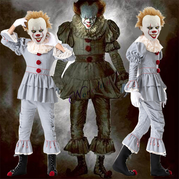 Pennywise Costume Stephen King's It Scary Clown Mask Costume Adult Men Women Horror Halloween Pennywise The Clown Costume pennywise costume stephen king s it scary clown mask costume adult men women horror halloween pennywise the clown costume