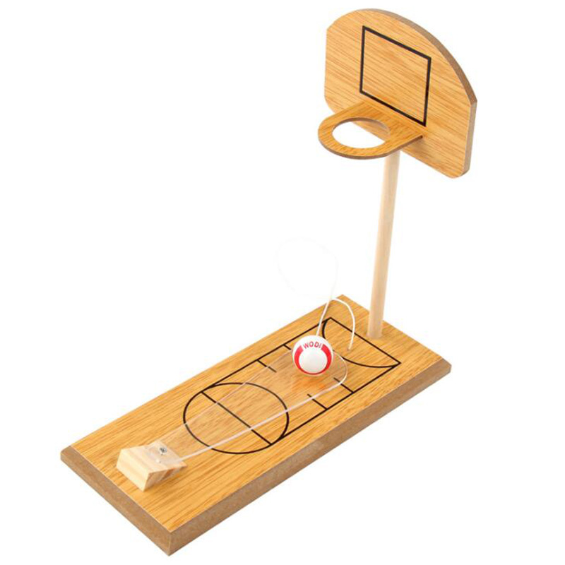Mini Desktop Basketball Game Tabletop Portable Basketball Game Wooden Fun Sports Novelty Toy Family Travel Or Office Game Set Fo