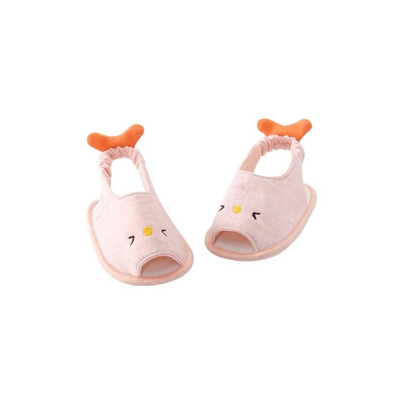 Pureborn Unisex Baby Sandals Cartoon Pattern Summer Baby Shoes Elastic Straps Baby Sandals Anti-slip Baby Sandals Shoes