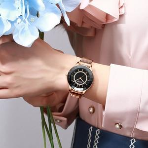 Image 5 - Curren Charmant Rhinestone Quartz Horloge Fashion Design Horloges Vrouwen Roestvrij Stalen Band Klok Vrouwelijke Luxe Reloj Mujer