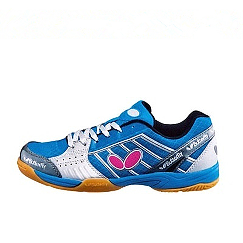 Men Table Tennis Shoes Indoor Black Blue Male Anti-Slip Tennis Sports Sneakers Lace Up Rubber Sole Ping Pong Shoes