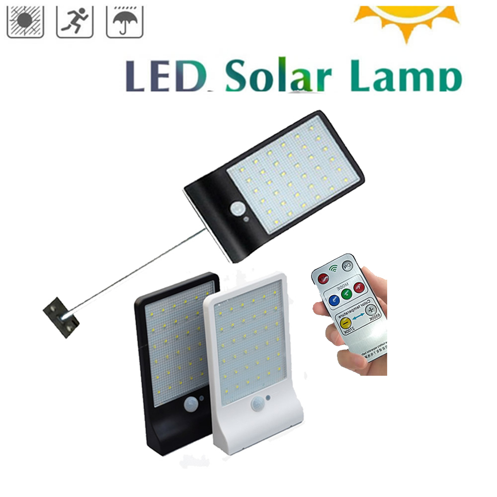 48 LED Solar Lamp Waterproof Solar Night Light Motion Sensor Porch Path Street Fence Garden Stairs Wall Corridor Emergency Sconc