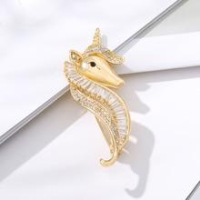 Unicorn Animal Rhinestone Pin Fashion Retro Accessories Male Female Children Birthday Clothes Accessories Jewelry Accessories