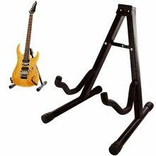 Portátil dobrável tripé de guitarra suporte instrumentos cordas titular para acústico guitarra eletrônica baixo ukulele violino violoncelo