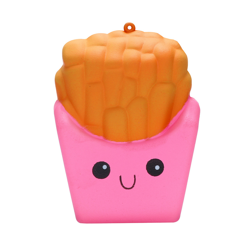 8cm French Fries Squishies Stress Relieve Toy PU Decompression Toy Slow Rising Toys Relax Pressure Toys Interesting Gifts