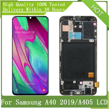 """5.9"""" SUPER AMOLED LCD For SAMSUNG Galaxy A40 2019 A405 A405F With Frame LCD Display Touch Screen Digitizer Assembly Replacement"""