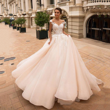 Sexy Backless Off Shoulder Wedding Dress Lace Appliqued A Line Country Bridal Gowns Boho Plus Size suknia slubna
