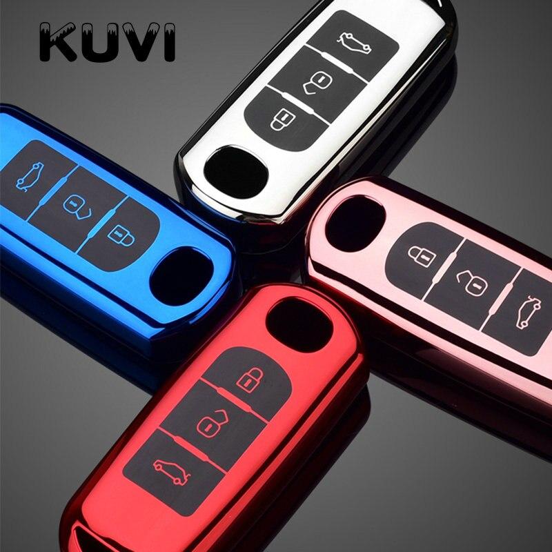 ТПУ чехол для автомобильного ключа дистанционного управления для Mazda 2 3 6 Atenza Axela Demio CX-5 CX5 CX-3 CX7 CX-9 2015 2016 2017 2018 2019 аксессуары