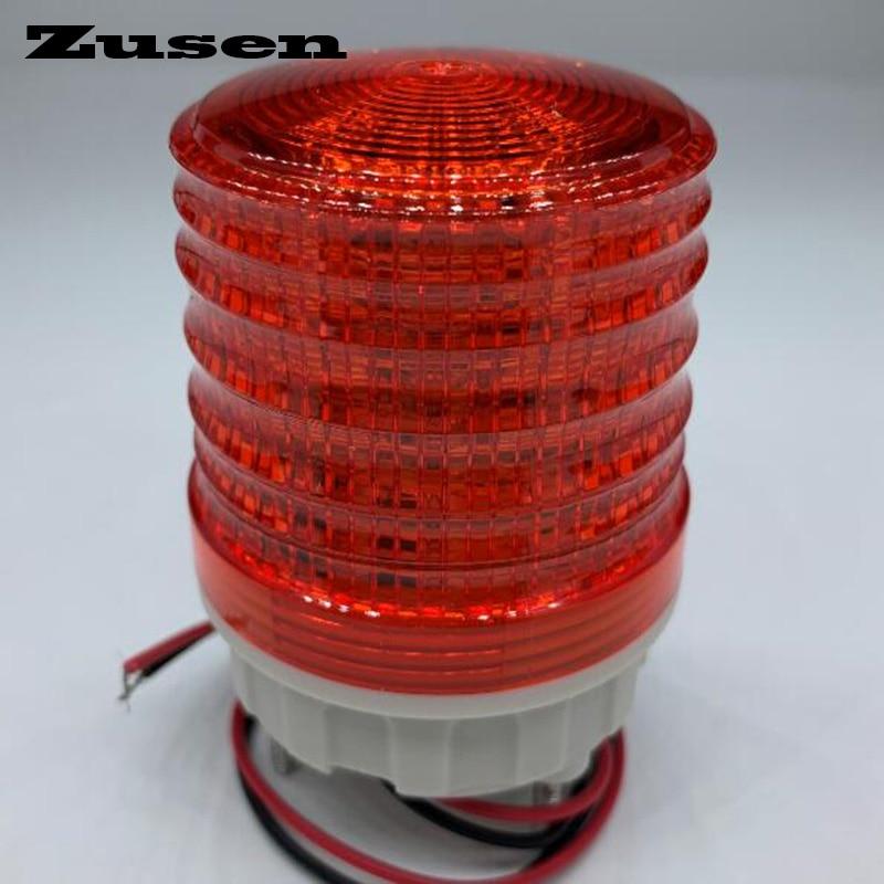 Zusen TB5051 220v Three Colors Signal Lamp Warning Light LED Small Flashing Light
