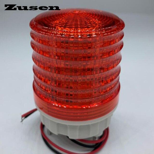 Zusen TB5051 Lámpara de señal, 220v, tres colores, luz de advertencia LED, luz intermitente pequeña
