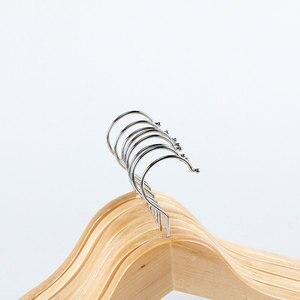 Image 4 - 10pcs עץ מלא קולב החלקה קולבי בגדי קולבי חולצות סוודרים שמלת קולב ייבוש מתלה לבית