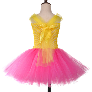 Image 4 - Princess Girls Lol Tutu Dress with Headband Cute Girl Birthday Party Dresses Kids Carnival Halloween Lol Dolls Cosplay Costume