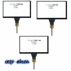 DVD do carro de navegação 6.2 polegada linha de tela de toque tela de toque capacitivo 155*88 6 GT911 6P linha 7 polegada 164*99 8 polegada 192*116