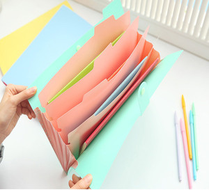 Folder A4 File Document Bag Pouch Bill Folder Holder Organizer Fastener Office Supplies document organizer Binder Carpetas(China)