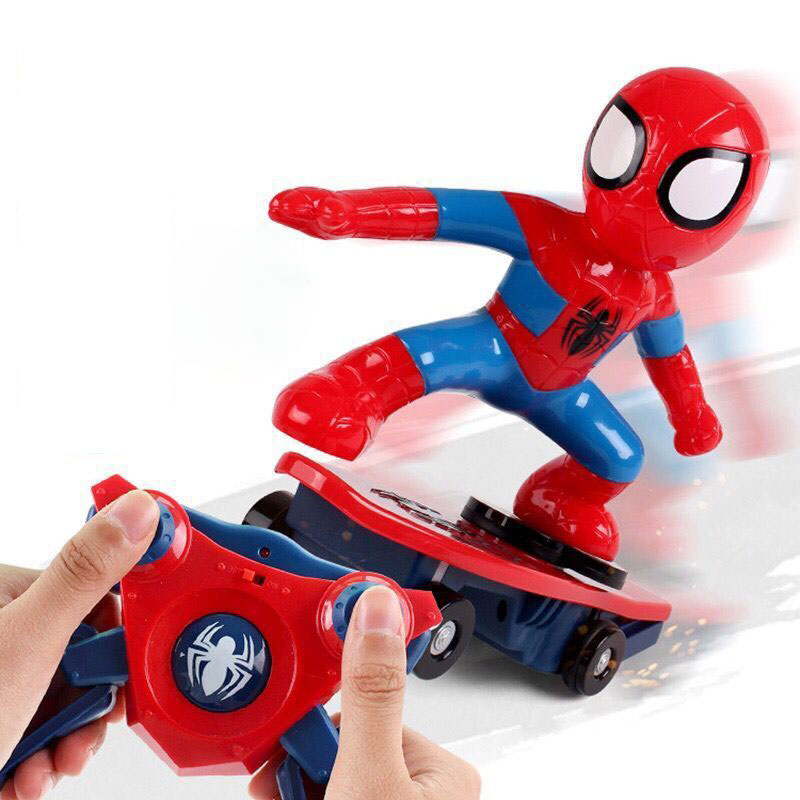 Spider Man RC <font><b>Car</b></font> <font><b>Electronic</b></font> Super Hero Robot Scooter Avengers Electric <font><b>Racing</b></font> <font><b>Car</b></font> Remote Control Spiderman Toys For Children image