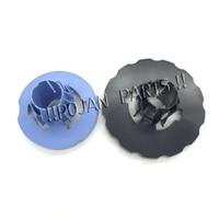 END cap Spindle hub Blue + black  DesignJet T610 T770 T1100 T1200 Z2100 Z3100 PS  POJAN PLOTTER PARTS